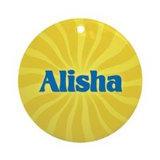 Alisha Sunburst Ornament (Round)