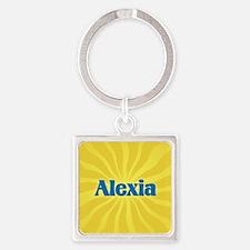 Alexia Sunburst Square Keychain