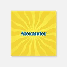 "Alexander Sunburst Square Sticker 3"" x 3"""