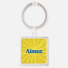 Aimee Sunburst Square Keychain