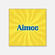 "Aimee Sunburst Square Sticker 3"" x 3"""