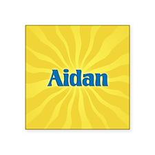 "Aidan Sunburst Square Sticker 3"" x 3"""