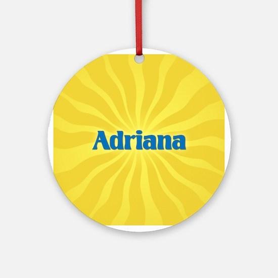 Adriana Sunburst Ornament (Round)