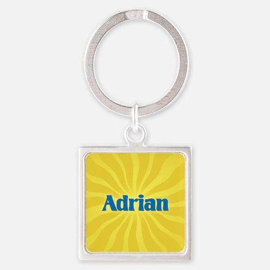 Adrian Sunburst Square Keychain
