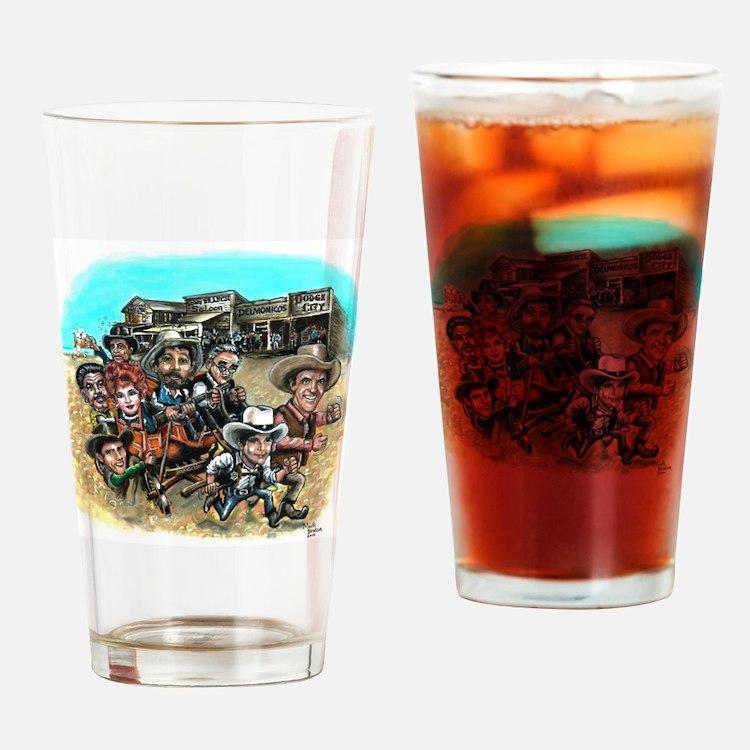 Cute Dodge city Drinking Glass