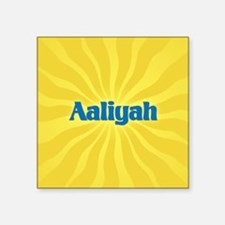 "Aaliyah Sunburst Square Sticker 3"" x 3"""