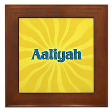 Aaliyah Sunburst Framed Tile