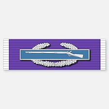 CIB Purple Heart Bumper Bumper Sticker