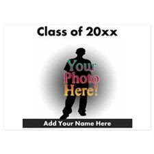 Custom Class of Graduation Photo/Name Invitations