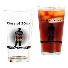 Custom Class of Graduation Photo/Name Drinking Gla