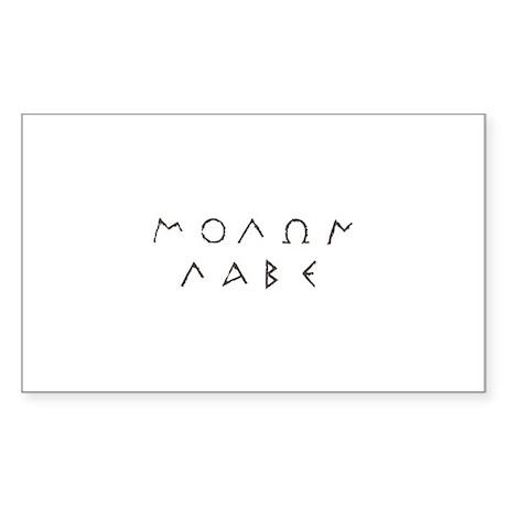 Molon Labe Sticker (Rectangle 50 pk)
