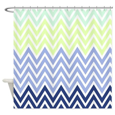 Classy chevron stripes Shower Curtain by chevroncitystripes