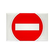 Do Not Enter Rectangle Magnet