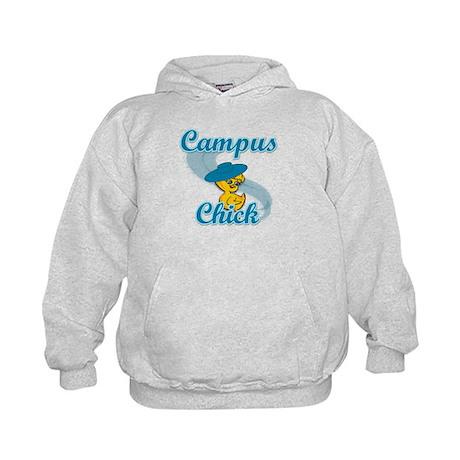Campus Chick #3 Kids Hoodie