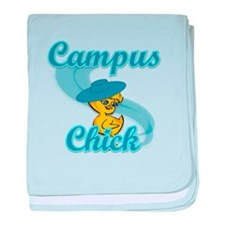 Campus Chick #3 baby blanket
