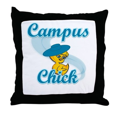 Campus Chick #3 Throw Pillow