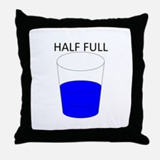 Glass Half Full Throw Pillow