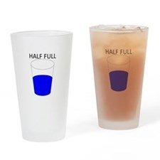 Glass Half Full Drinking Glass
