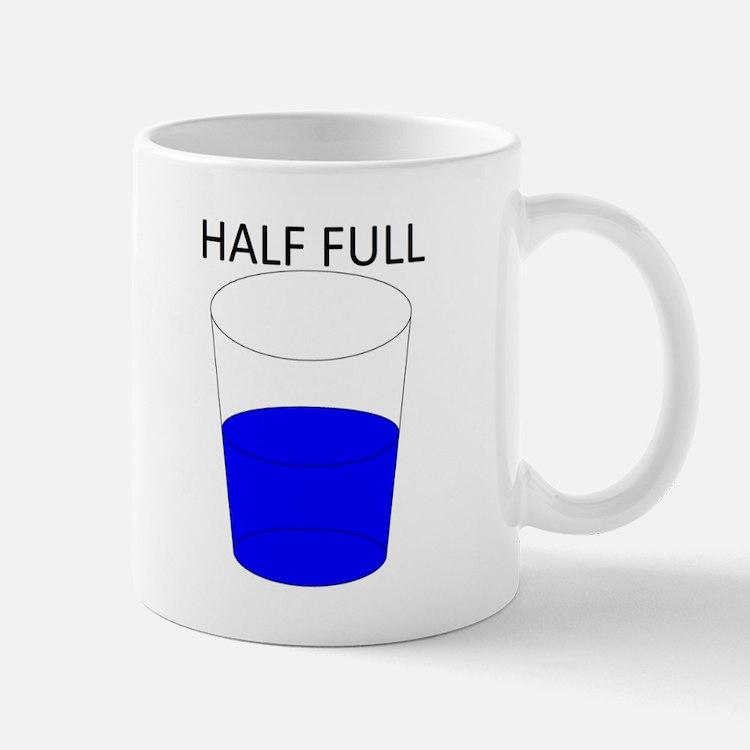 Glass half full coffee mugs glass half full travel mugs cafepress - Two and a half men coffee mug ...