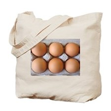 Brown Eggs in a Carton Tote Bag
