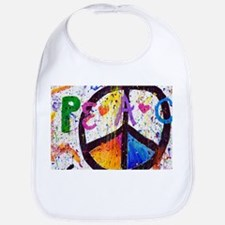 Love and Peace and Children Bib