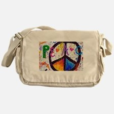 Love and Peace and Children Messenger Bag