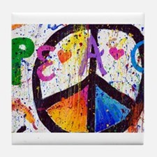 Love and Peace and Children Tile Coaster