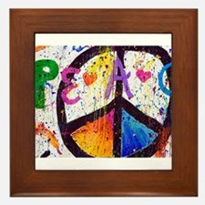 Love and Peace and Children Framed Tile