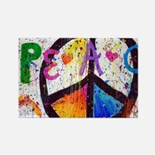 Love and Peace and Children Rectangle Magnet