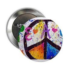 """Love and Peace and Children 2.25"""" Button"""