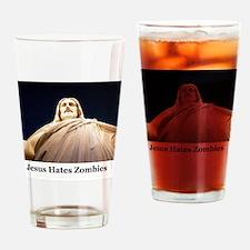 Jesus Hates Zombies Drinking Glass