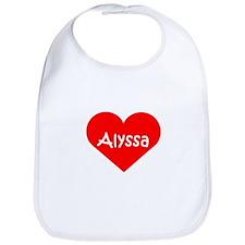 """""""Alyssa"""" Heart Bib"""