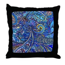 Wild Paisley Throw Pillow