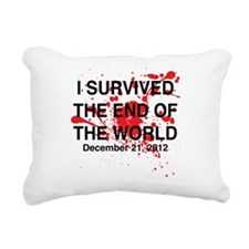 I survived the end of the world Rectangular Canvas