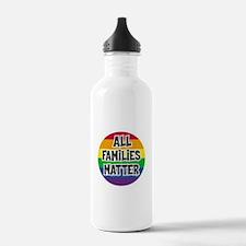Rainbow all families matter Water Bottle
