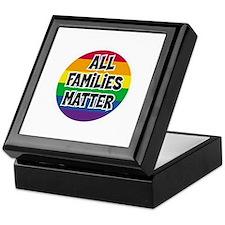 Rainbow all families matter Keepsake Box