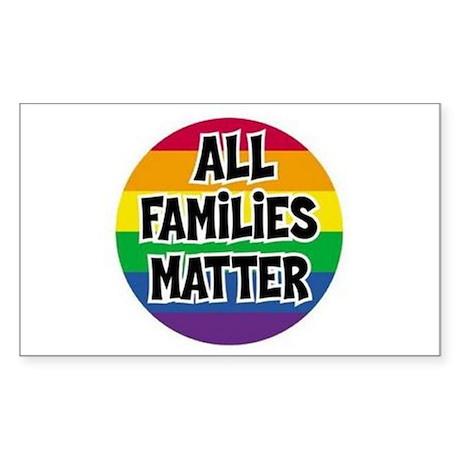 Rainbow all families matter Sticker (Rectangle)