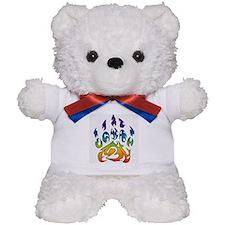 Rainbow bear claw Teddy Bear