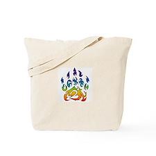 Rainbow bear claw Tote Bag