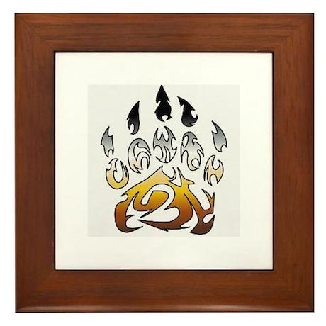 Bear pride claw Framed Tile