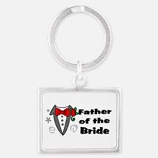 Father Of Bride Landscape Keychain