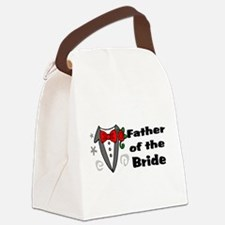 Father Of Bride Canvas Lunch Bag