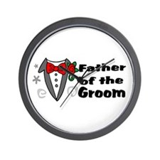 Father Of Groom Wall Clock