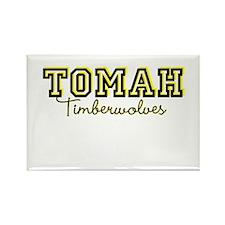 Tomah Timberwolves Rectangle Magnet