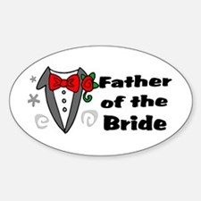 Father Of Bride Sticker (Oval)