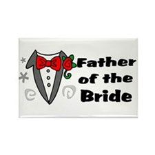 Father Of Bride Rectangle Magnet