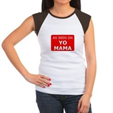 As seen on yo mama Women's Cap Sleeve T-Shirt