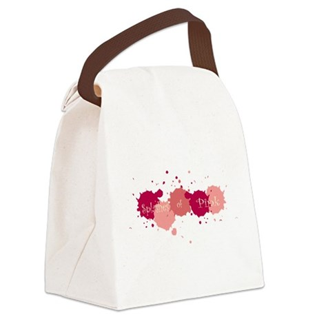 Splashes Pink Canvas Lunch Bag