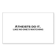 Atheist's do it Decal