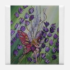 Cordillia the lavender fairy Tile Coaster